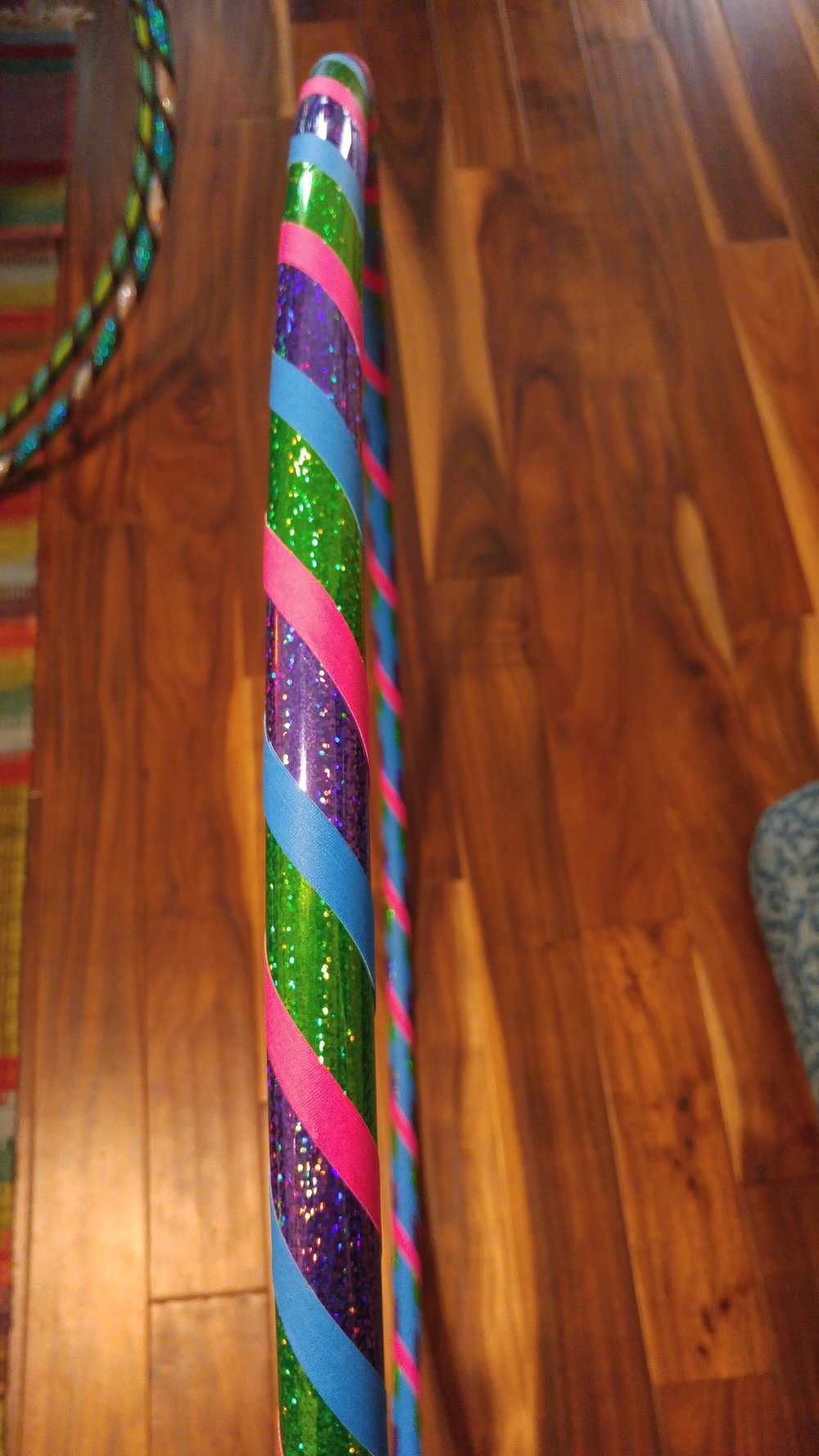 Green & Purple sparkle w/ pink & blue grip accent
