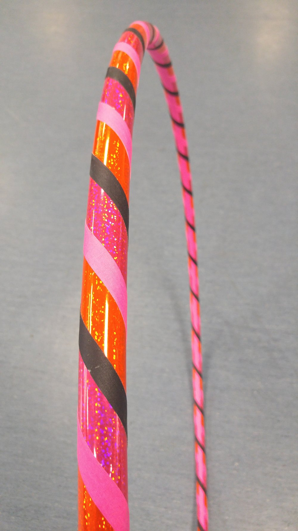 Pink & Orange Sparkle w/ black & pink grip accent