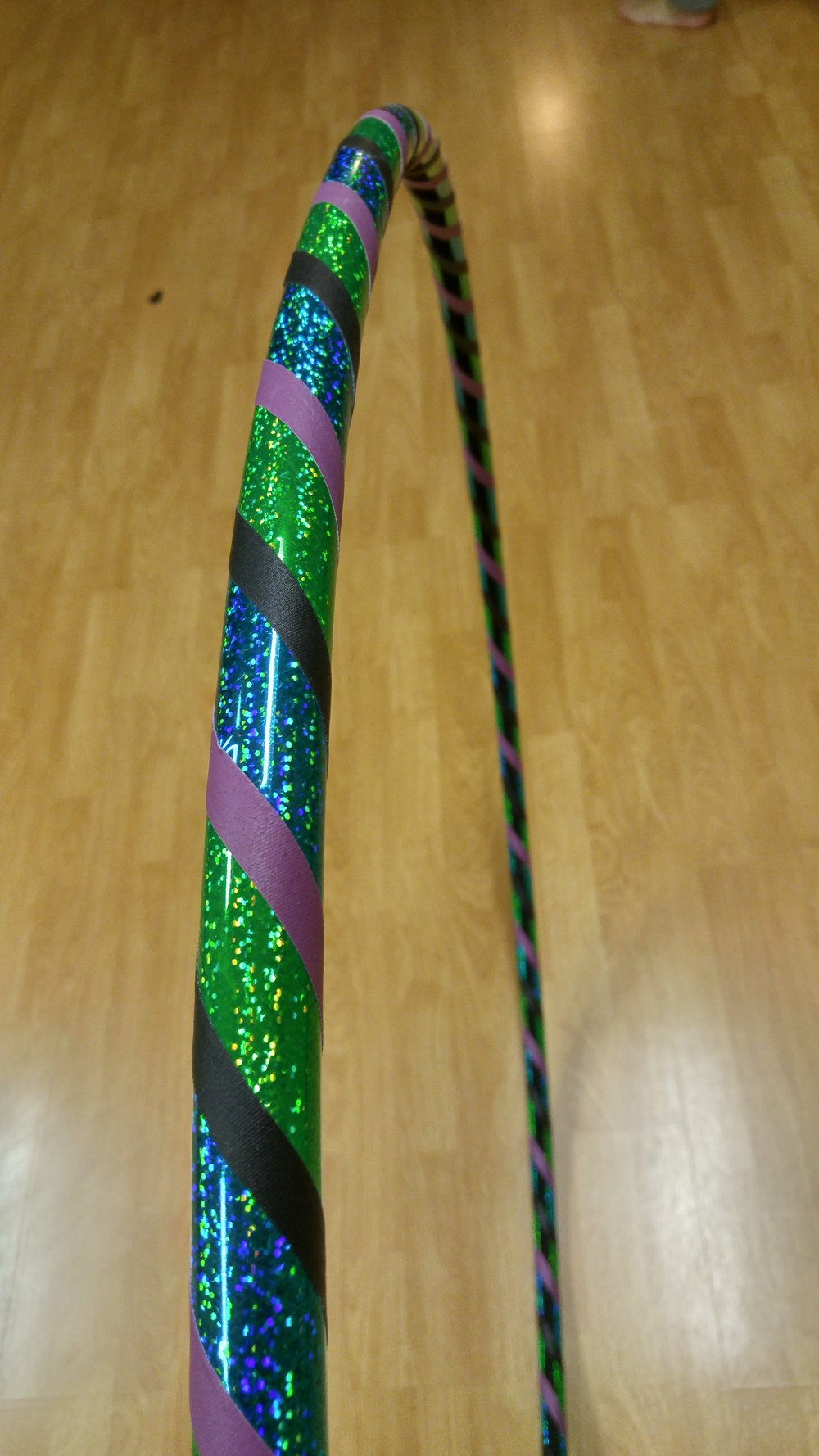 Teal & Green Sparkle w/ black & purple grip tape