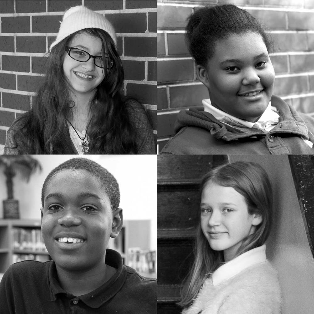 Clockwise from top left: Kirsten Jones, Ellexus Hicks, Amelia Moorshead, Justin Mitchell