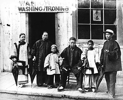 The Wah Chong Laundry, Vancouver, 1884. Courtesy of City of Vancouver Archives and Civilization.ca