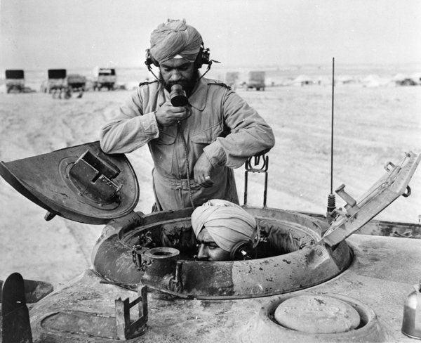 Sikh soldiers in a tank in Libya in WWII. Lifted from http://recruitmenthistory.blogspot.ca/