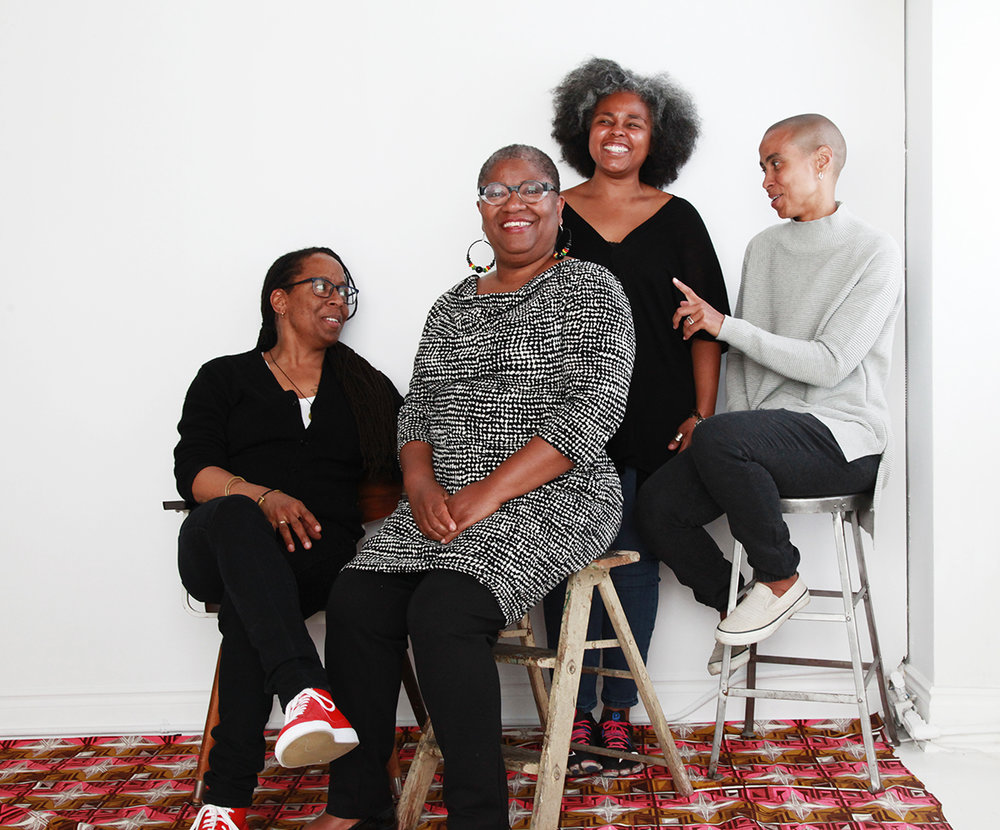 Deanna Bowen, Interdisciplinary Artist, Educator; Bushra Junaid, Artist, Arts Administrator;Sandra Brewster, Artist & Michéle Pearson Clarke, Artist