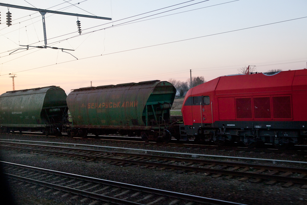 Belarusian train, Lithuania
