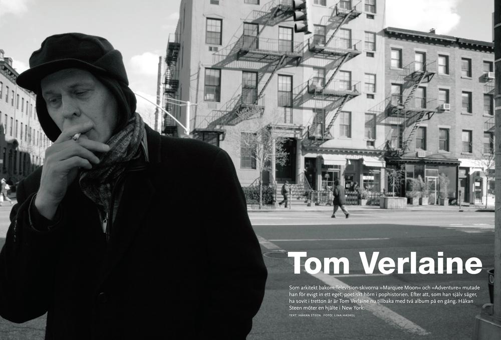 Tom Verlaine/Television, New York (Sonic magazine)