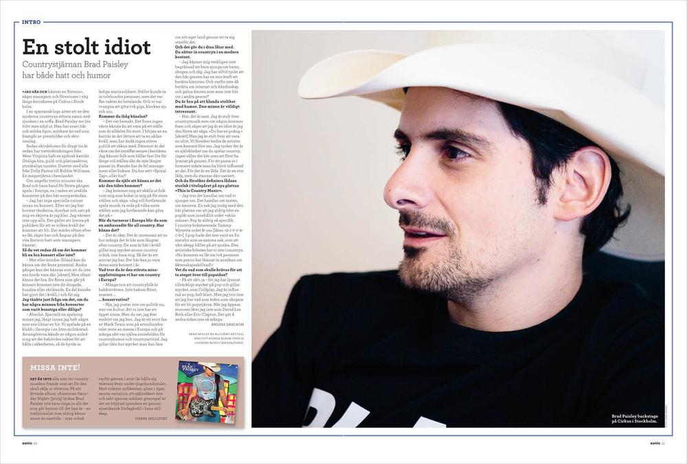 Brad Paisley (Sonic magazine)