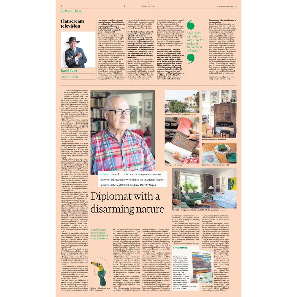 Hans Blix (Financial Times)