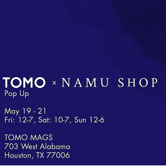 TOMOrrow! We are excited to be hosting a pop up for @namu_shop 12pm-7pm Stop in tomorrow for a special treat of Japanese and Korean brands. #tomoxnamushop