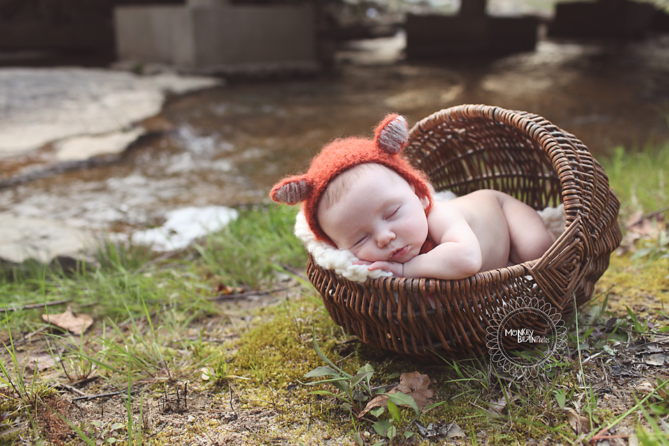 She's so precious.  One of the prettiest babies ever for sure!!  Loved using my fox hat for the first time with her.