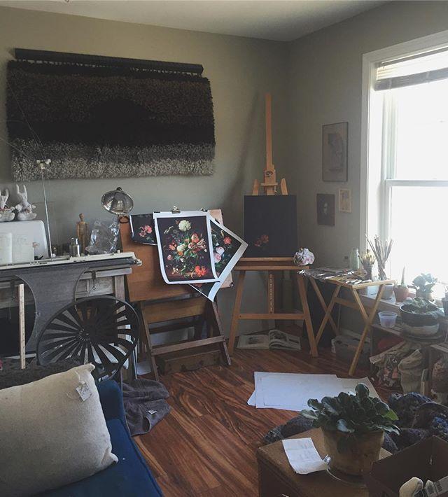 My happy place 🌿 #homestudio