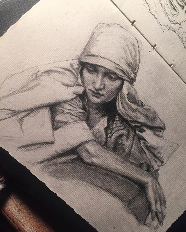 #Alphonsemucha #graphiteillustration #sketchbook