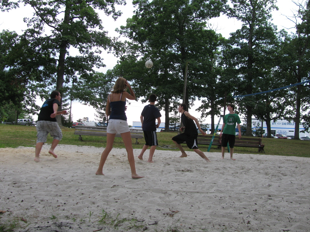 Afternoon Rec - Staff Vs. Camper Volleyball