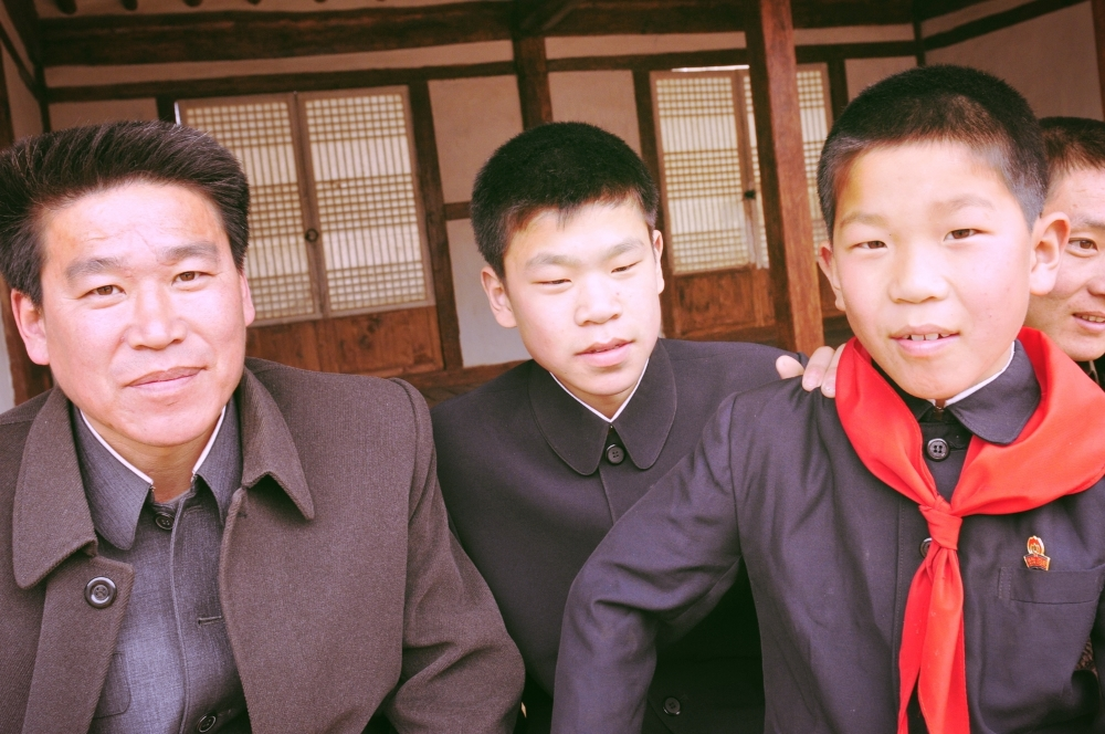 Father and Sons Wearing Mao Suits.JPG