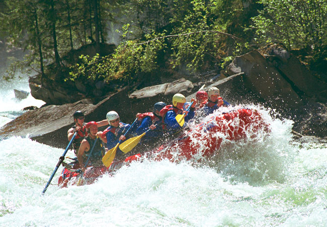 White water rafting...
