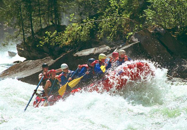 White water rafting...