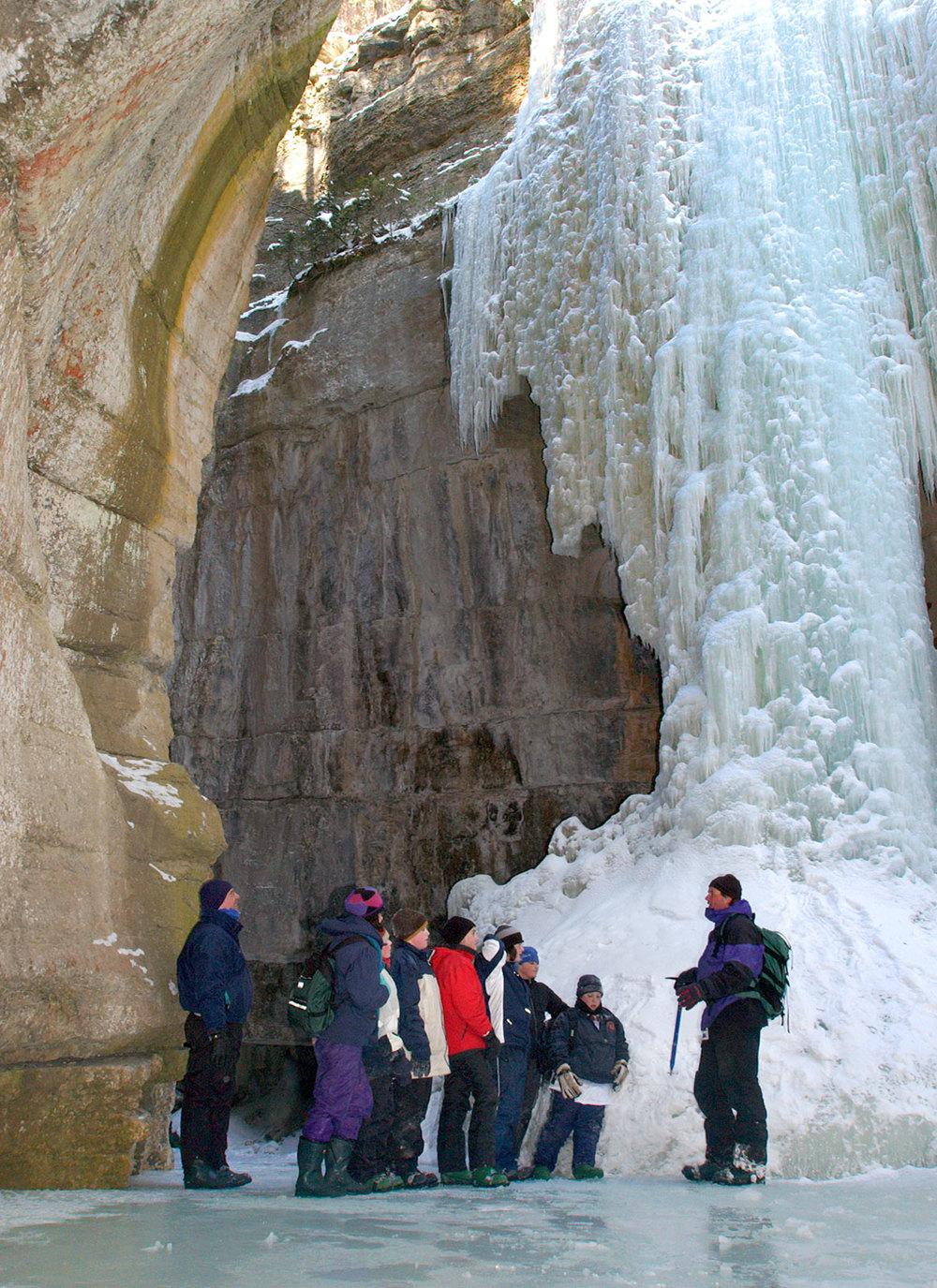Maligne Canyon ice tours...