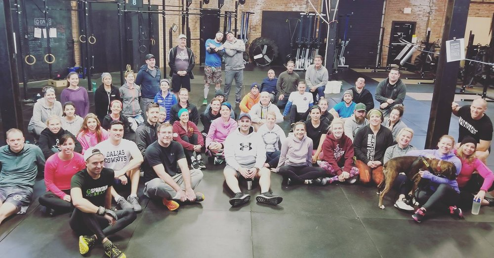 Jan 1st. - We kicked off the new year by taking on a classic CrossFit Workout called MURPH. This day was a huge success all around because each of these individuals made a donation to the Brantford Food Bank!