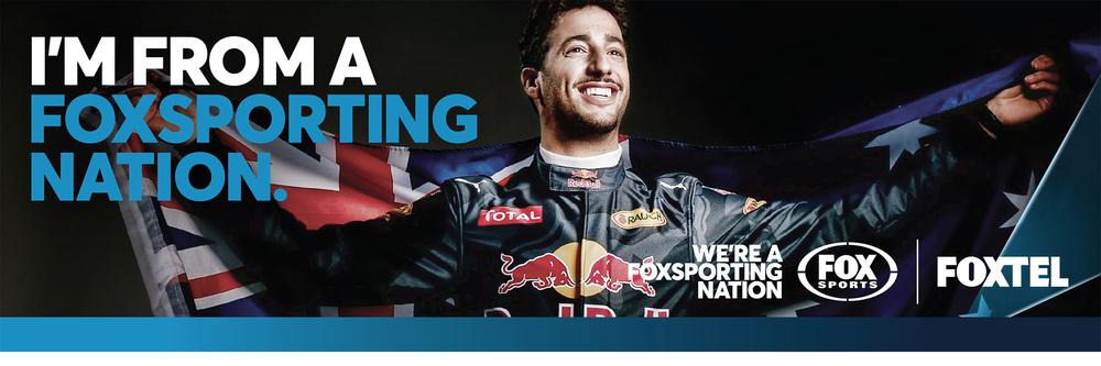 Daniel Ricciardo - Advertising shoot for Fox Sports in Australia for the 2016 F1 Season.