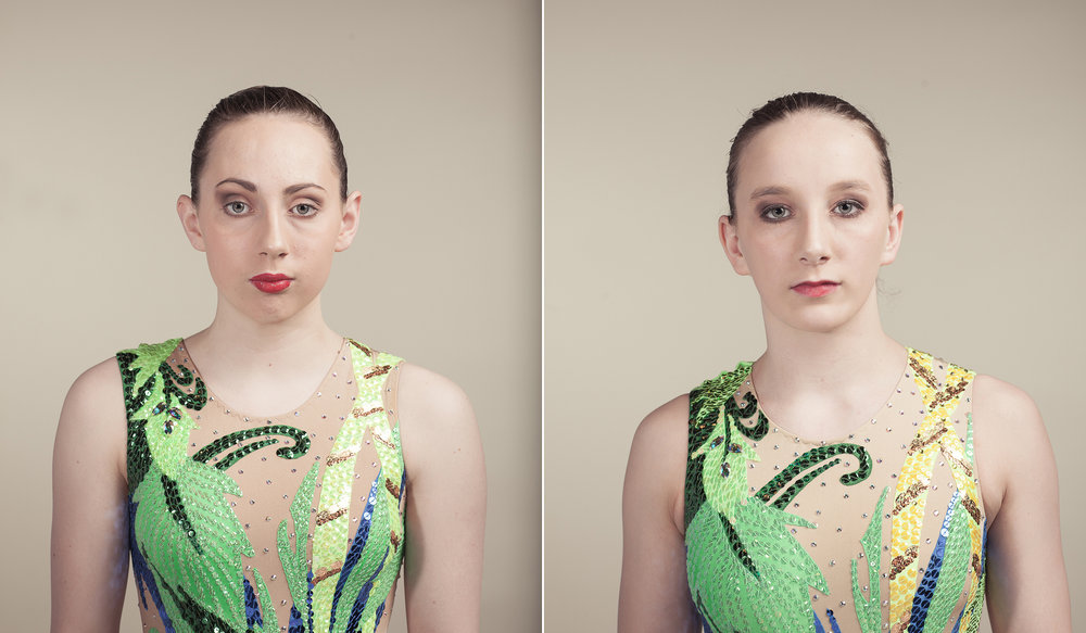 A portrait session with the GB Synchronized Swimming squads.