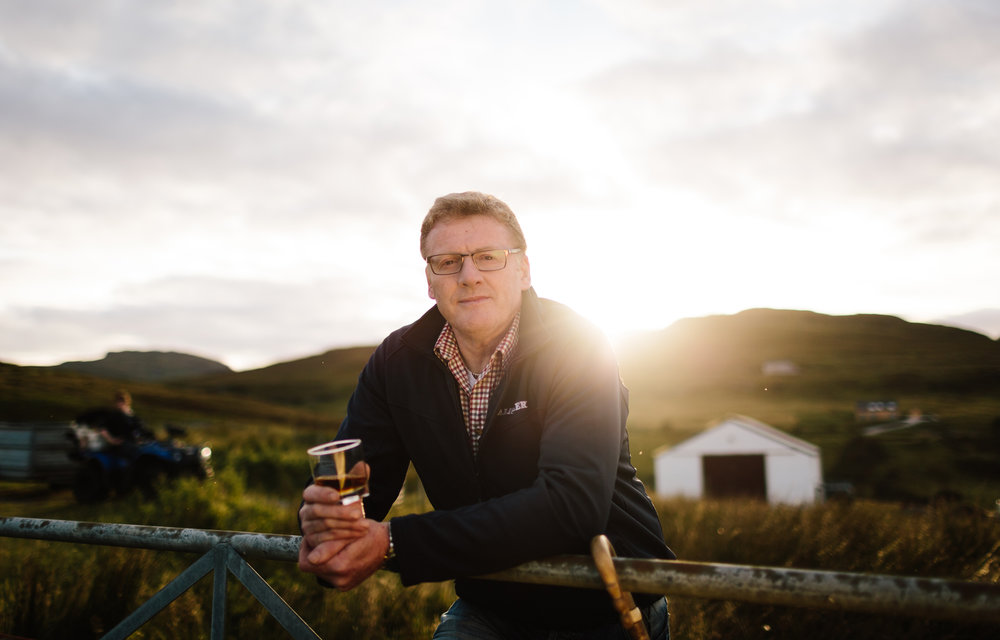 A landscape and portrait shoot for Diageo in Islay and Skye looking at all the people and places involved in making single malt whisky.