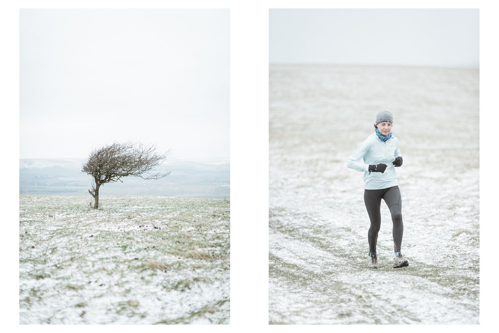 The Moyleman is an offroad marathon run over the South Downs around the town of Lewes. Without being difficult enough, this year a fresh dump of snow, a chilling northerly wind and temperatures just above freezing made it particularly challenging.