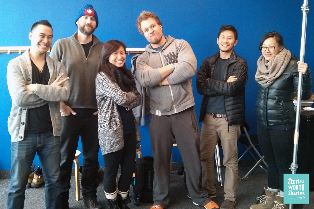 The team (L-R): Chun, Luke (from Just-Eat), Carol, Furious Pete, Gord, Giselle (from Just-Eat)