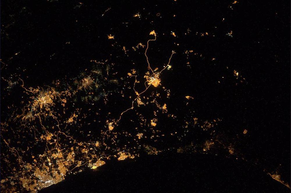 Photo of Gaza from outer space, by Alexander Gerst.