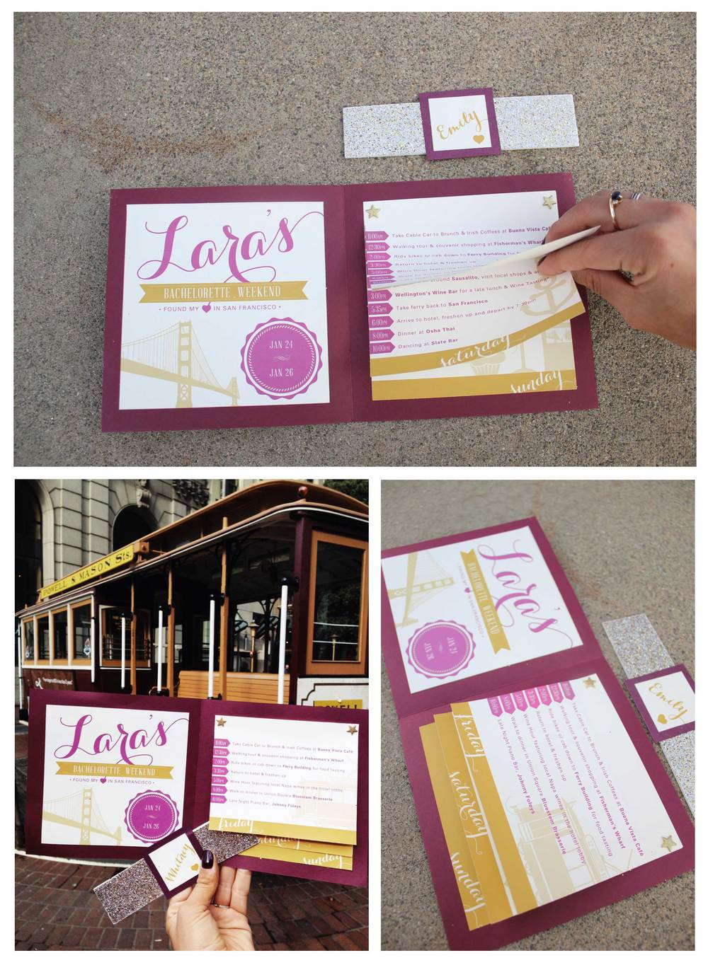 Bachelorette Itinerary: San Fran - Emily Roeder Design