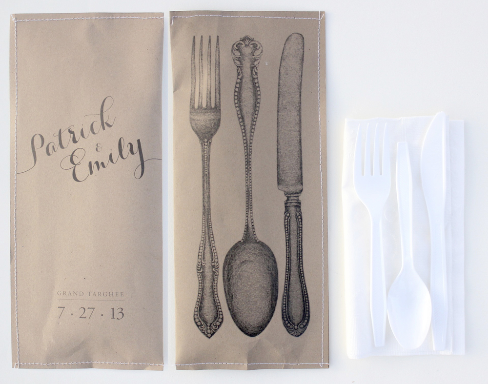 UTENSIL PACKETS - For Rehearsal Dinner BBQ