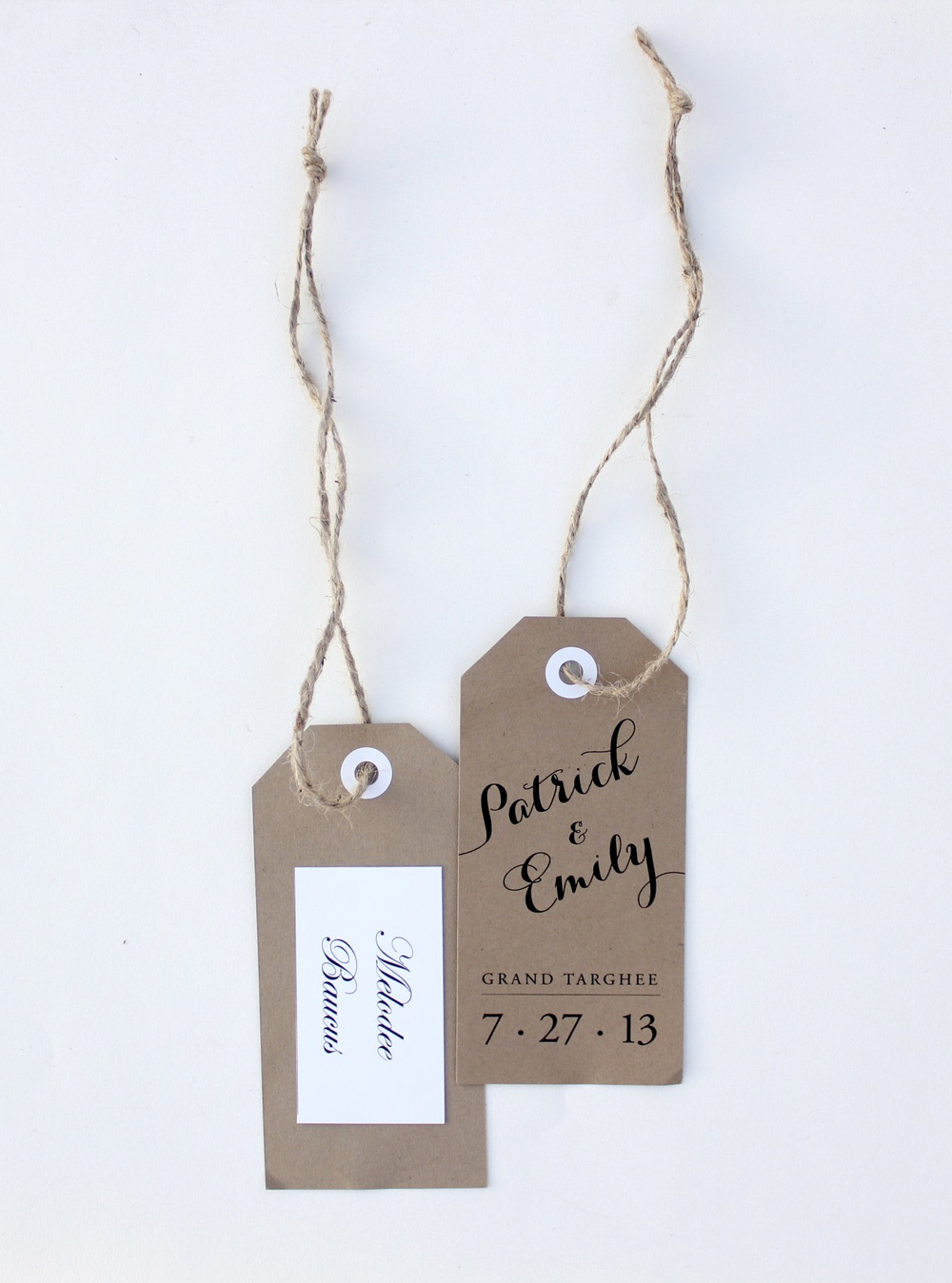 Camping Chairs Tags - Wedding Favor