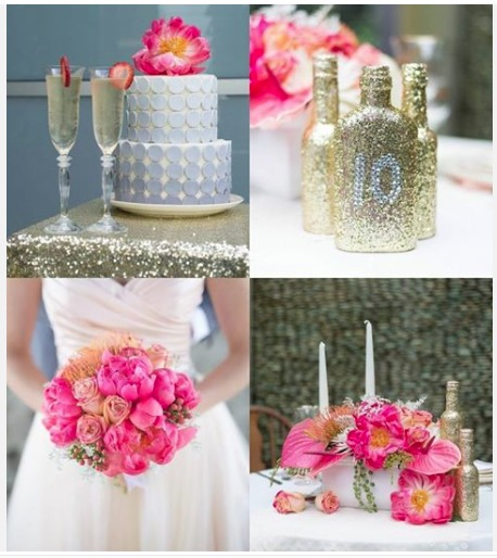 tablescape, sparkles, handmade glittery bottles, and vintage chairs by Sparkles and Vintage