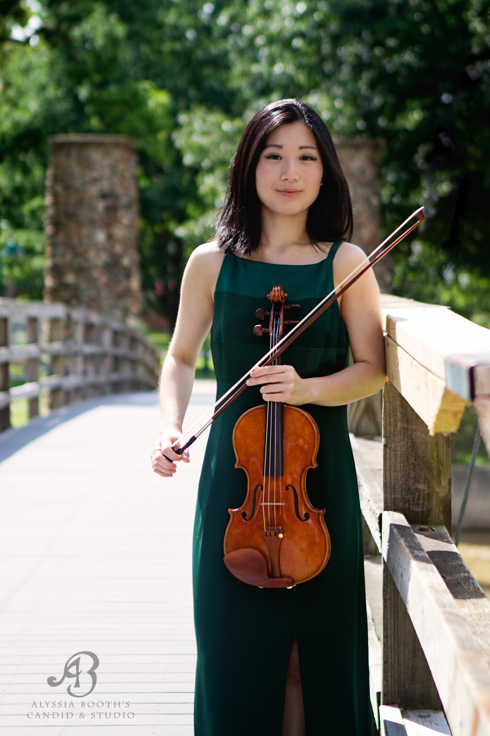 Violinist On Bridge