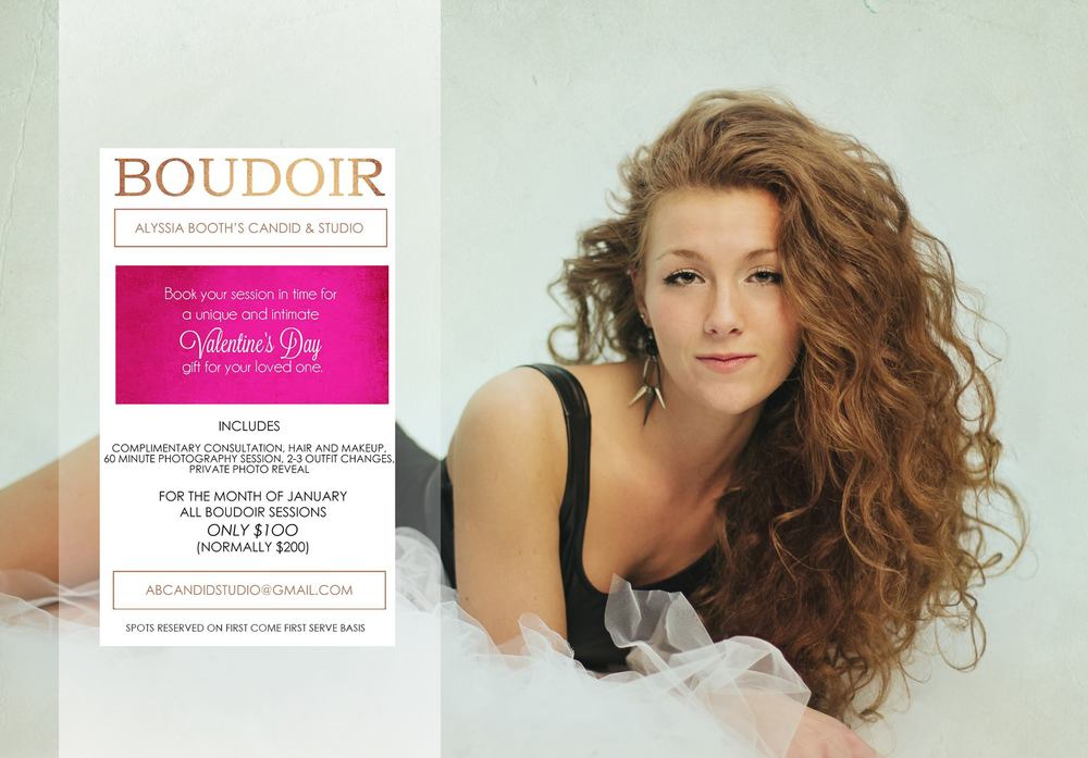 Valentines Boudoir Photo Shoot Special www.abcandidstudio.com