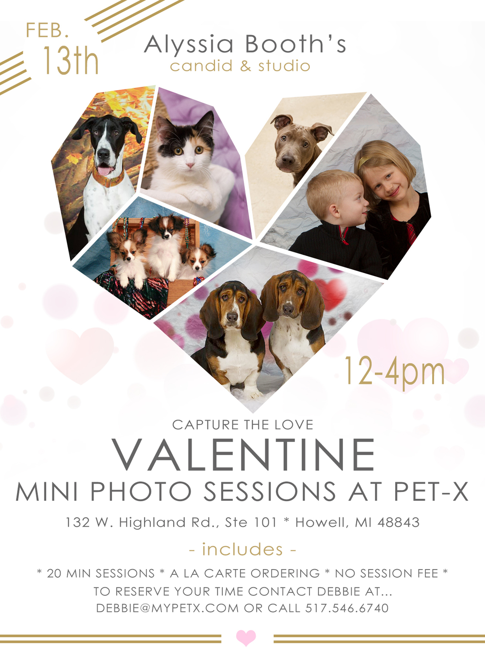 PET-X Howell Michigan Pet Photo Day Alyssia Booth's Canddi & Studio