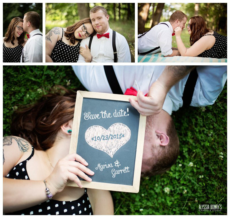 Marisa & Garrett | Cute Engagement Photos | Alyssia Booth's Candid & Studio | Michigan Photographer