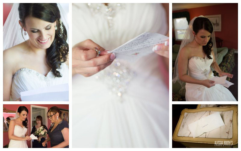 The Groom's Letter | Wedding at the English Inn | Alyssia Booth's Candid & Studio