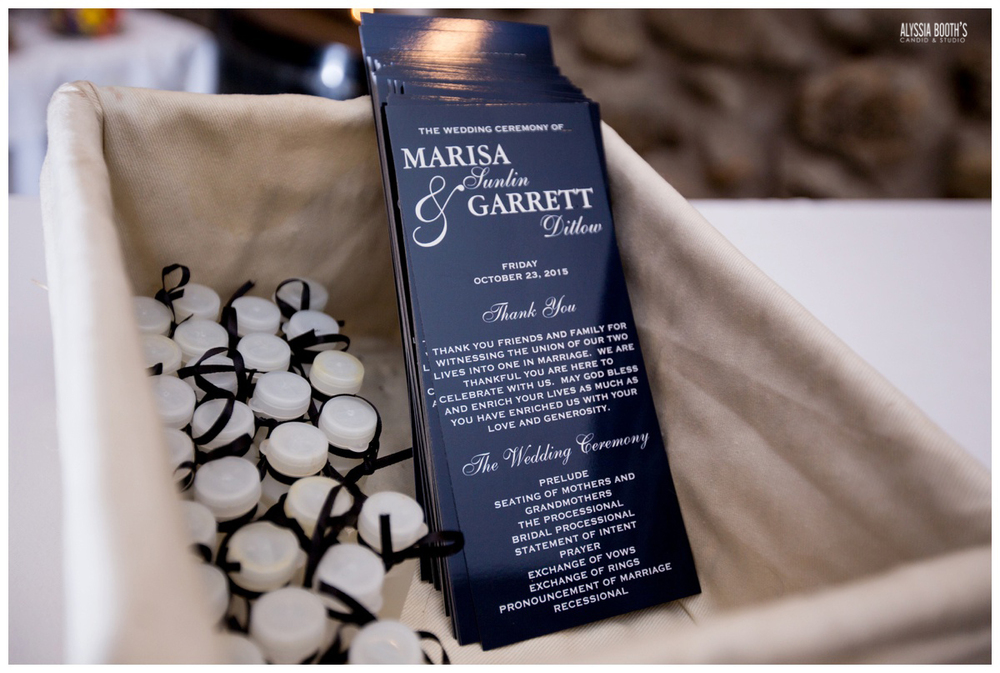 Program | Marisa & Garrett 10.23.15 | Wedding at the Lawton Community Center | Kalamazoo Mi