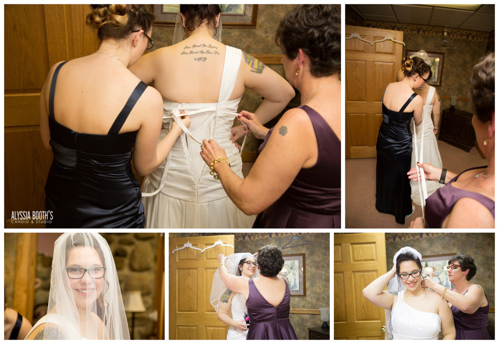 Getting Ready | The Bride | Marisa & Garrett 10.23.15 | Wedding at the Lawton Community Center | Kalamazoo Mi