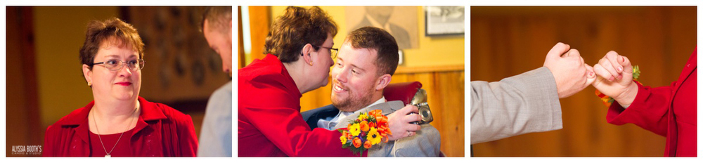 Groom & Mom | Marisa & Garrett 10.23.15 | Wedding at the Lawton Community Center | Kalamazoo Mi