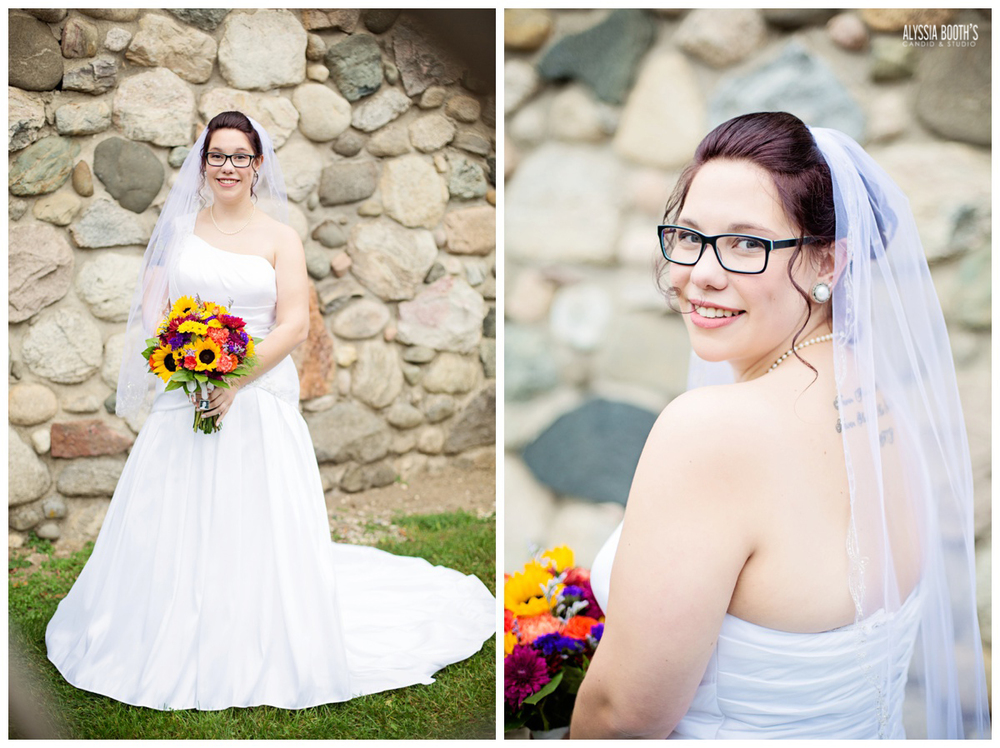 Bride | Marisa & Garrett 10.23.15 | Wedding at the Lawton Community Center | Kalamazoo Mi | Alyssia Booth's Candid & Studio