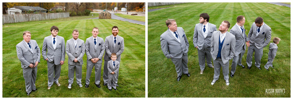 The Guys! | Marisa & Garrett 10.23.15 | Wedding at the Lawton Community Center | Kalamazoo Mi | Alyssia Booth's Candid & Studio
