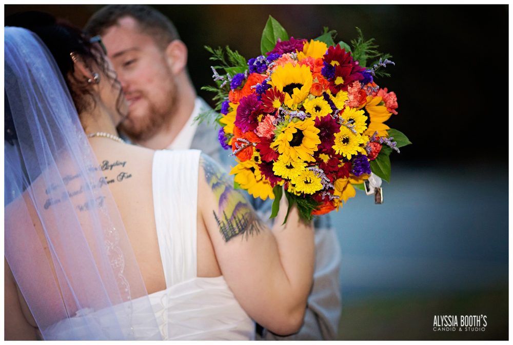 Flowers | Marisa & Garrett 10.23.15 | Wedding at the Lawton Community Center | Kalamazoo Mi | Alyssia Booth's Candid & Studio
