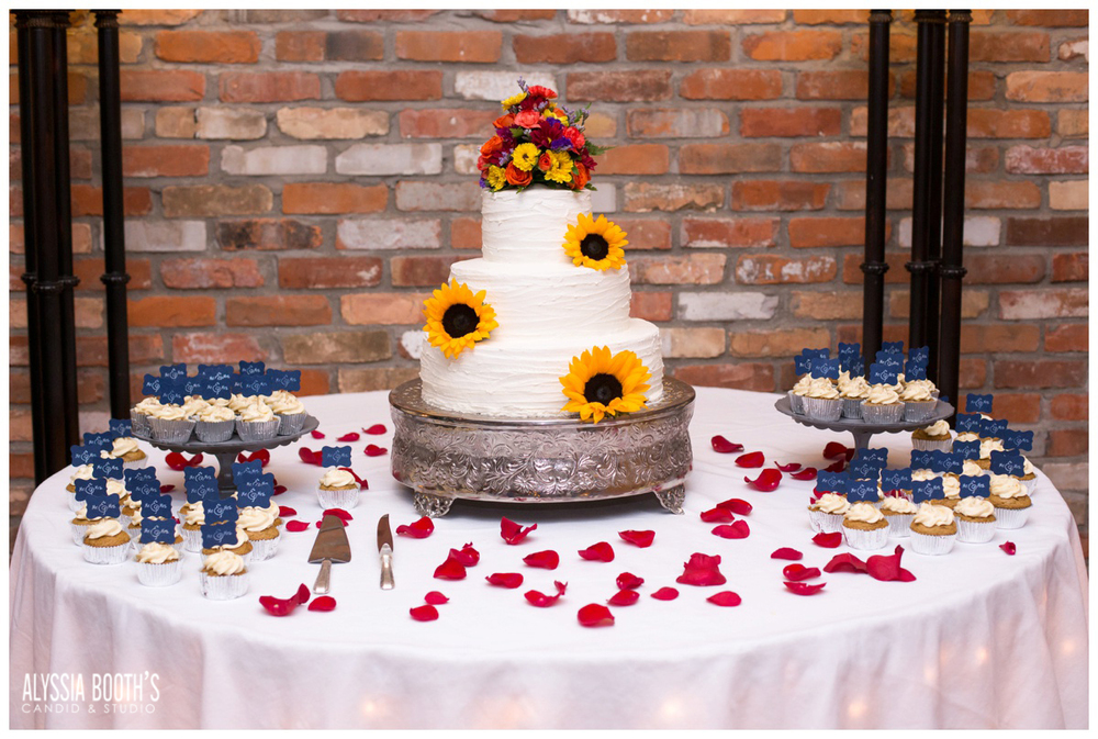 Dessert | Marisa & Garrett 10.23.15 | Wedding at the Lawton Community Center | Kalamazoo Mi | Alyssia Booth's Candid & Studio