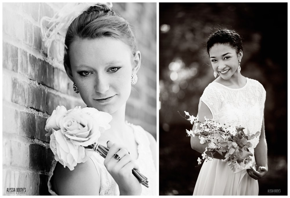 B&W Photos | Brides | Alyssia Booth's Candid & Studio | Styled Wedding Shoot
