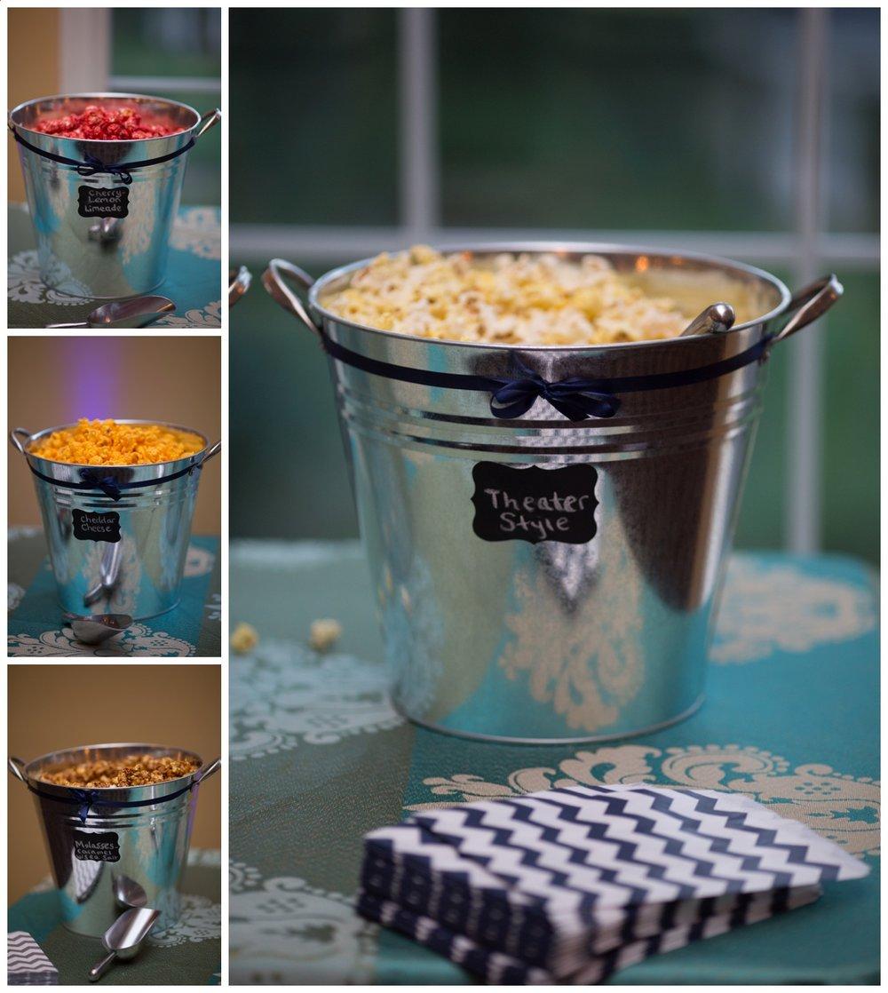 Popcorn Bar | Wedding Photography | Alyssia Booth's Candid & Studio