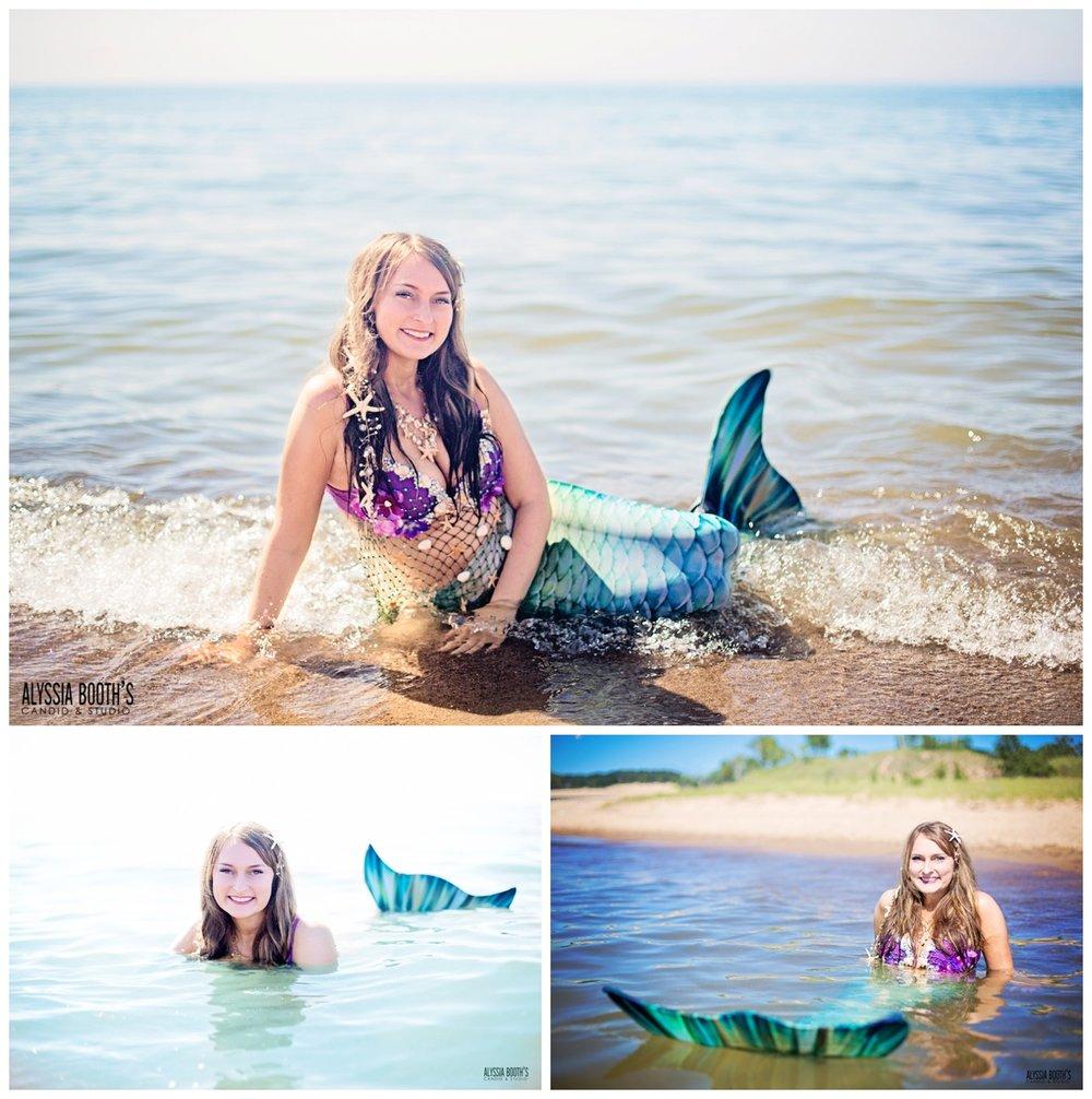 Mermaid Photoshoot | Be The Myth | Alyssia Booth's Candid & Studio | Michigan Photographer | Fantasy Shoots | www.abcandidstudio.com