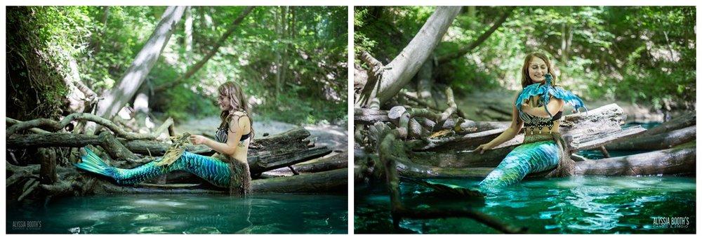 Mermaid & Dragon Photoshoot | River Mermaid | Be The Myth | Alyssia Booth's Candid & Studio | Michigan Photographer | Fantasy Shoots | www.abcandidstudio.com