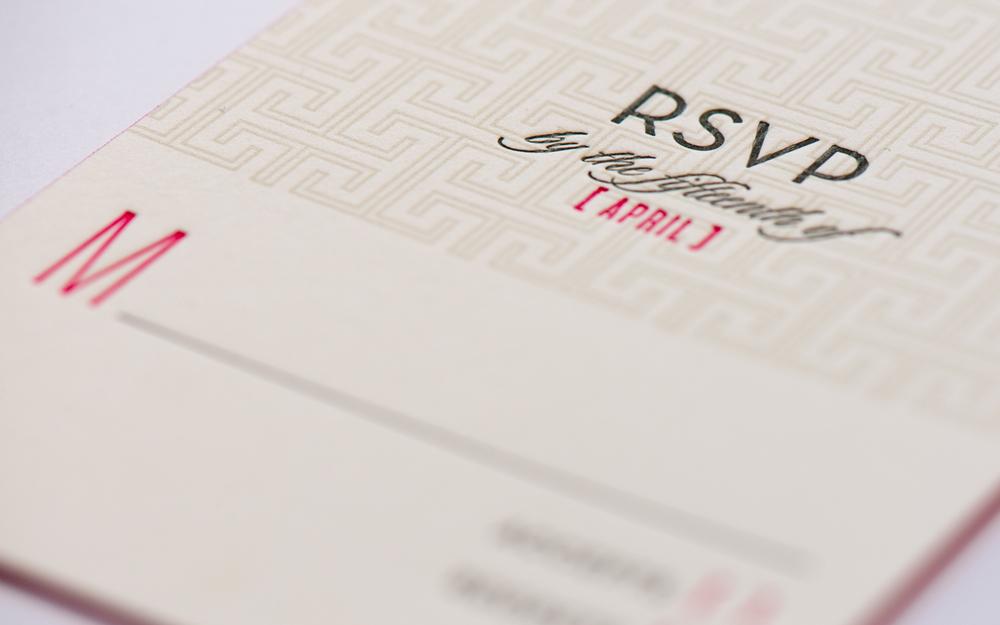 rsvp letterpress cards