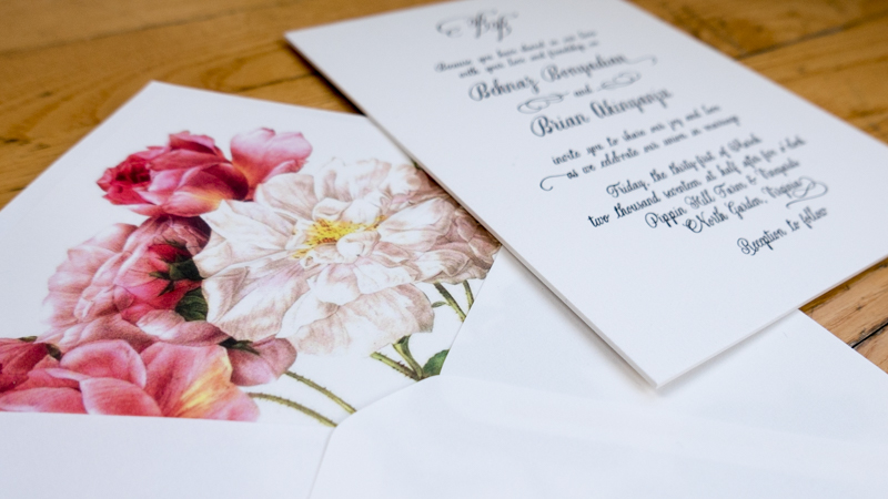 Just paper tea wedding invitations letterpress business cards our stationery wedding invitations reheart Choice Image