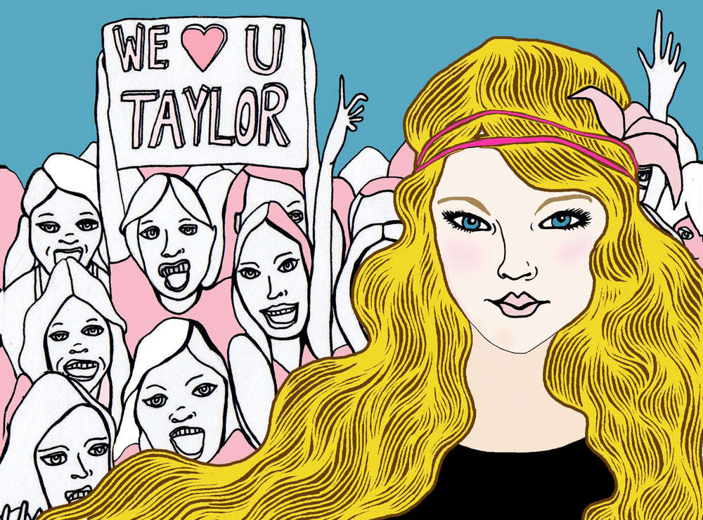 Taylor Swift Illustration for BUST Magazine